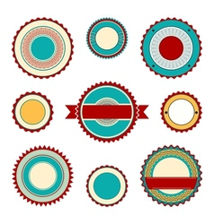 Labels with guilloche elements in turquoise vector image