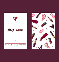 lipstick pattern beautiful red color vector image