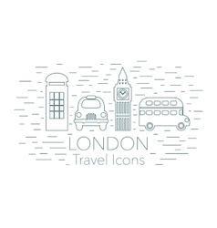 London linear banner vector