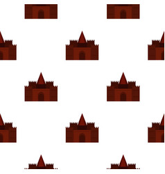 Medieval palace pattern seamless vector