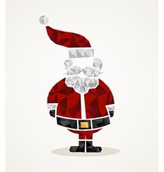 Merry Christmas trendy Santa Claus triangle shape vector image