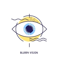 modern thin line icons blurry vision vector image