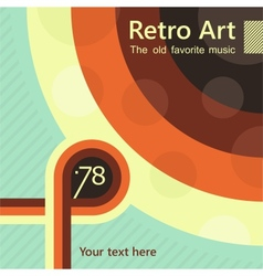 Old favorite music vector