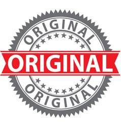 Original stamp badge vector