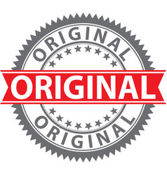 Original stamp original badge vector