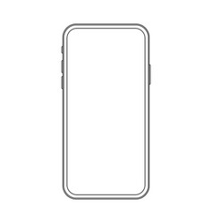outline line drawing modern smartphone elegant vector image