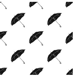 Parasol icon in black style isolated on white vector