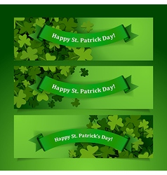 patrick leaves banners vector image