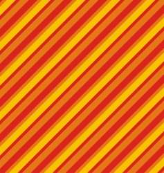 pattern from red yellow diagonal lines vector image