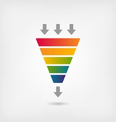 Rainbow color marketing funnel vector
