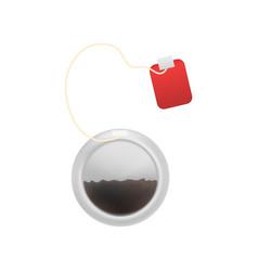 realistic detailed 3d tea bag vector image