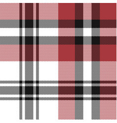 Red plaid pattern vector