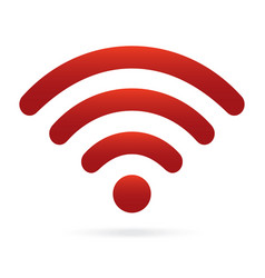 red wifi icon wireless symbol on isolated vector image