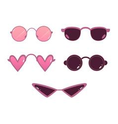 retro sunglasses photo booth props icon vector image