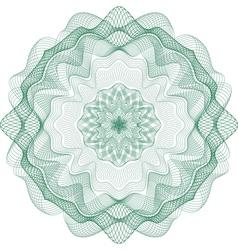 rosetka 1 green vector image