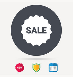 sale icon special offer star sign vector image