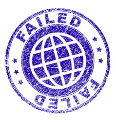 scratched textured failed stamp seal vector image