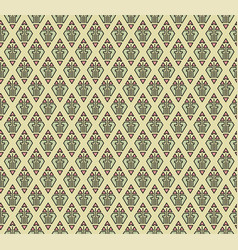 Seamless geometric pattern with in art deco style vector