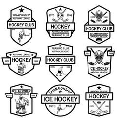set hockey club emblems design element for vector image