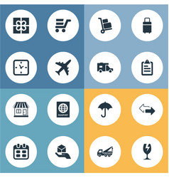 Set simple carting icons vector