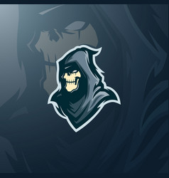 Skull assassin logo gaming mascot esports vector