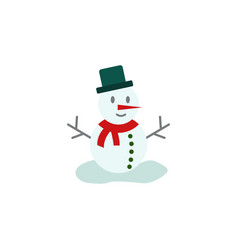 snowman color icon element of christmas and new vector image