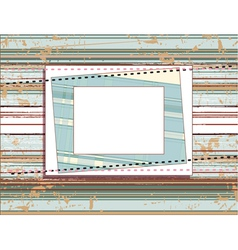 square frame on the vintage shabby background with vector image