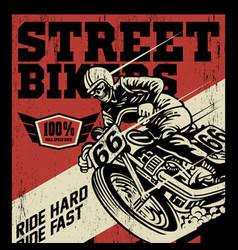 Street bikers vector