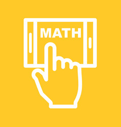 Studying math on mobile vector