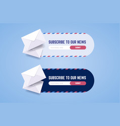 Subscribe to newsletter form for web and mobile vector