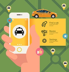 Taxi App for a Phone vector image