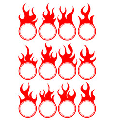 Twelve fire icon vector