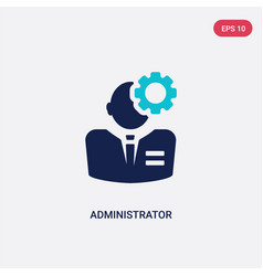 Two color administrator icon from human resources vector
