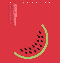 watermelon minimalists banner design vector image