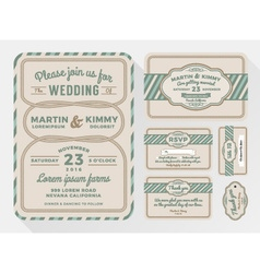 Wedding invitation sets for in a rope theme vector
