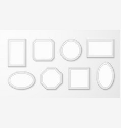 white picture frames realistic empty image vector image