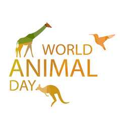world animal day vector image