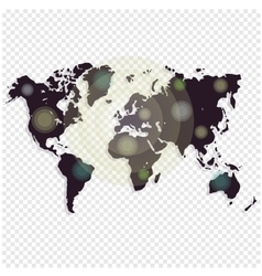World map isolated on white background worldmap vector