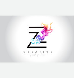 z vibrant creative leter logo design with vector image