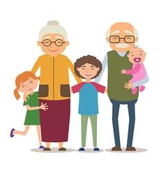 Grandparents with their grandchildren vector image