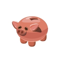 Piggy bank icon cartoon style vector image