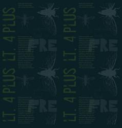 vivat crescat floreat vintage design pattern vector image