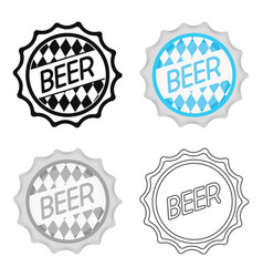 bottle cap icon in cartoon style isolated on white vector image