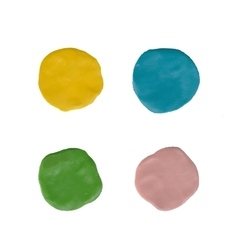 clay circles Colorful plasticine stains vector image vector image