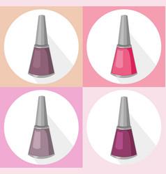 Nail polish set collection vector