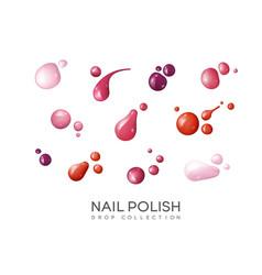 Realistic nail polish set vector