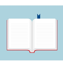 Blank Book Open Flat Design vector image
