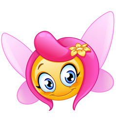 fairy emoticon vector image vector image