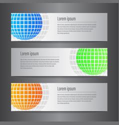 set of design world banner template vector image vector image