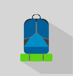 backpack hiking camping flat icon vector image